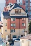 Новизна первоначально архитектуры старого Pomorie, Болгария Стоковые Фото