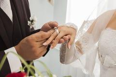 Новобрачные обручальных колец Стоковые Изображения RF
