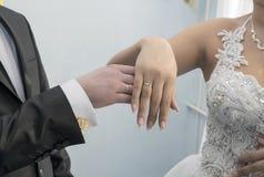 Новобрачные обручальных колец Стоковые Изображения