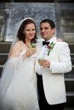 новобрачные пар счастливые Стоковое Изображение RF