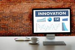 НОВОВВЕДЕНИЕ думает что творческие идеи изобретают proces знания творческие Стоковое Изображение