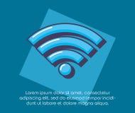 Нововведение технологии сигнала интернета Wifi онлайн Иллюстрация штока