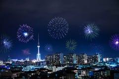 Новогодняя ночь в Берлине Стоковые Изображения