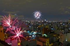 Новогодняя ночь в Буэносе-Айрес стоковое изображение