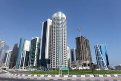 Новое городское заречье в Doha Стоковые Фото