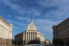 Новое здание парламента в Болгарии, в истории, было партией строя теперь в центре Софии стоковое фото