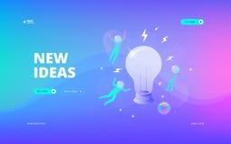 Новое знамя сети идей иллюстрация штока