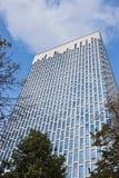 Новое здание на предпосылке голубого неба Стоковое Изображение