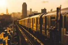 новое метро york стоковое изображение