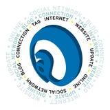 Новое облако слова интернета Стоковые Изображения