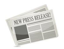 Новое официальное сообщение для печати иллюстрация штока