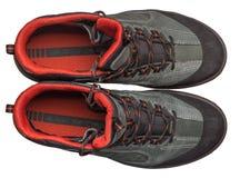 Новое пешее взгляд сверху ботинок Стоковые Фотографии RF