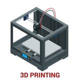 Новое поколение печатной машины 3D печатая модель пластмассы Стоковое Изображение