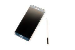 Новое примечание 5 галактики Samsung Smartphone с ручкой s Стоковое фото RF