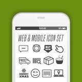 Новое реалистическое собрание smartphone мобильного телефона с значками на экране иллюстрация вектора