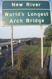 Новое река - мост свода мира самый длинний Стоковое Фото
