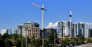 Новое строительство в городе Ричмонда Стоковые Изображения RF