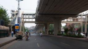 Новое транспортное обслуживание в Пакистане, надземном мосте Стоковые Фотографии RF
