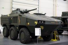Новое украинское бронированное транспортное средство BTR-60 на выставке Стоковые Изображения RF