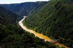 Новое ущелье реки Стоковые Изображения