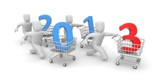 Новое хозяйственное год иллюстрация вектора
