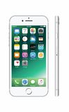 Новое цвета серебр белое iPhone 7 Стоковое Изображение RF