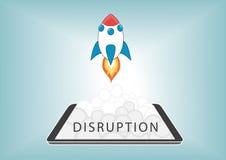 Новое цифровое нарушение с разрушительными бизнесами модель с новой технологией Стоковое Изображение RF