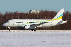 Новое Comlux Sukhoi Superjet-100 RA-89033 для VIPs на Zhukovsky Стоковые Фотографии RF