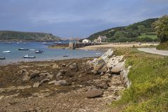 Новое Grimsby, Tresco, острова Scilly, Англии Стоковые Изображения