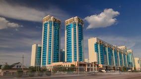 Новое hyperlapse timelapse финансового района в столице Казахстана в Астане видеоматериал