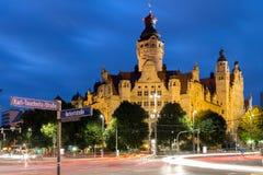 Новое Townhall Лейпциг Стоковое Изображение RF