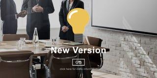 Новой версии концепция наиболее поздно современная недавняя Стоковое фото RF