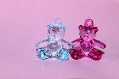 Новорождённые, семья, концепция детства Медведи игрушки Стоковое Изображение