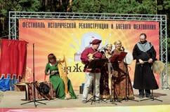 Новосибирск, Россия - 29-ое августа 2015: фестиваль исторического reenactment Стоковые Изображения