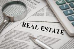 Новости недвижимости стоковые изображения rf