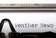 Новости погоды Стоковое Фото