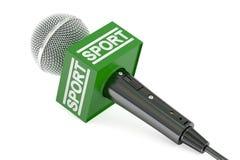 Новости спорта микрофона, перевод 3D Стоковые Фотографии RF