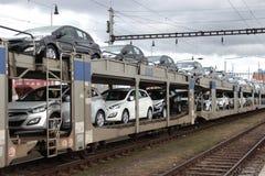 Новые автомобили Стоковое Изображение RF