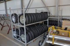 Новые автошины на колесах Стоковая Фотография RF