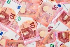 Новые 10 банкнот евро Стоковые Изображения