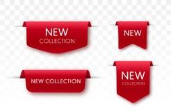 Новые бирки собрания Значки вектора иллюстрация штока