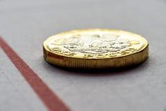 Новые британцы один тариф диаграммы монетки фунта стерлинга Стоковое фото RF