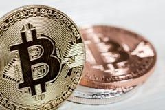 новые виртуальные деньги Cryptocurrency Стоковая Фотография RF