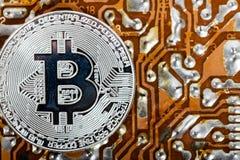 новые виртуальные деньги Cryptocurrency Стоковое фото RF