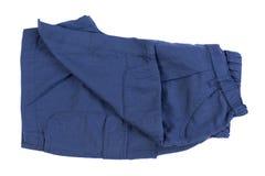 Новые голубые короткие брюки изолированные на белой предпосылке стоковое фото rf