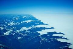 Новые горные вершины zeland Стоковая Фотография