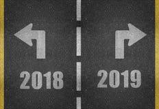 Новые Годы концепции Eve в 2018 иллюстрация вектора