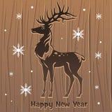 Новые Годы оленей Стоковое Изображение