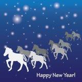 Новые Годы поздравительной открытки Стоковые Изображения