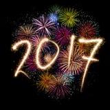 Новые Годы Eve 2017 иллюстрация штока